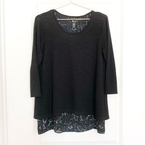 3/$30 Style & Co. Celestial Starry Layered Sweater